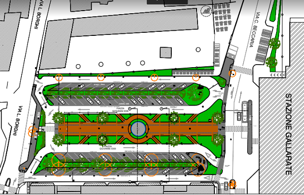 gallarate piazza stazione progetto