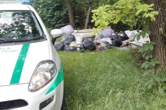 castanoprimo scarico rifiuti polizialocale