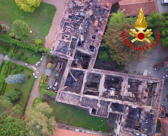 focolai droni incendio bodio