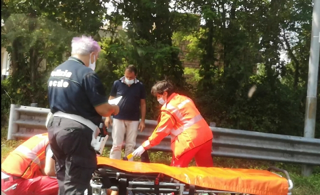 Incidente moto somma lombardo
