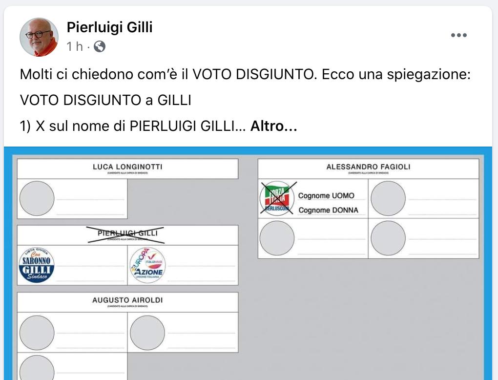 saronno post voto disgiunto