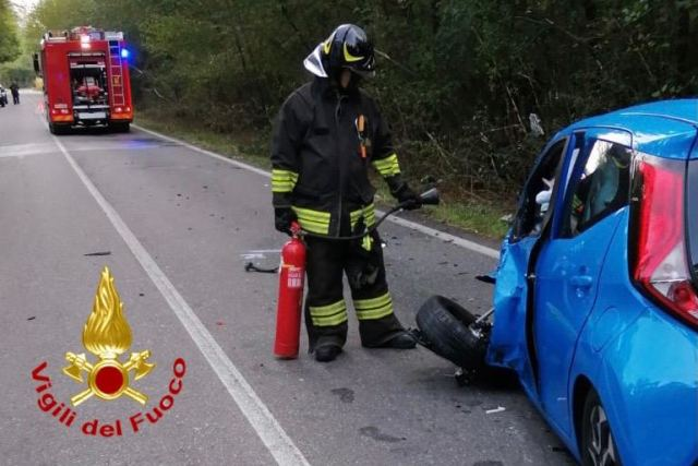 vergiate incidente motociclista