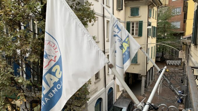 lega elezioni partito congressi bandiere varese