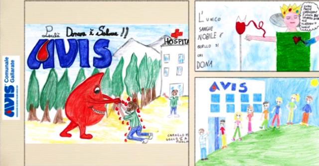 Le quinte elementari di Gallarate disegnano il Calendario Avis