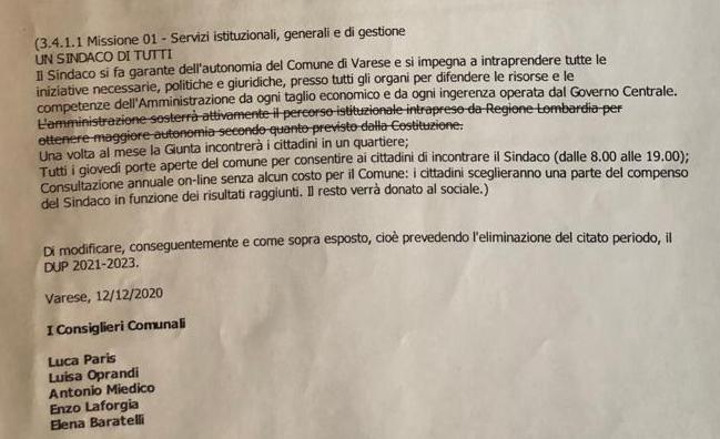 Varese autonomia pd emendamento paris