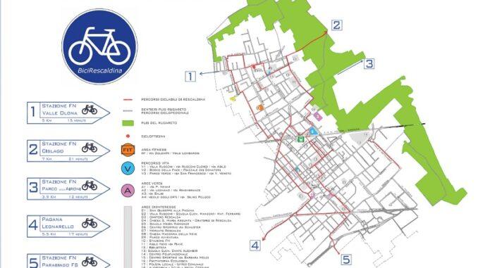 rescaldina bicipolitana piste ciclabili bici