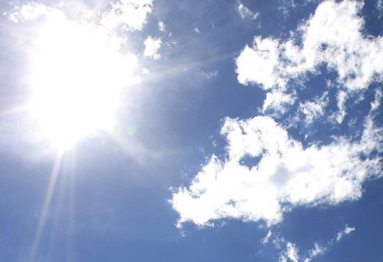 nubi alpi pressione sole