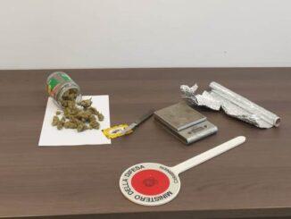 vergiate auto marijuana denunciato