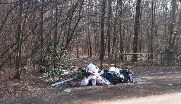 rescaldina gerenzano rifiuti boschi
