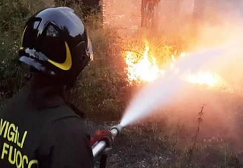 sesto calende incendio bosco