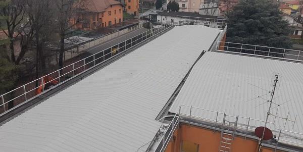 villacortese lavori scuola tetto