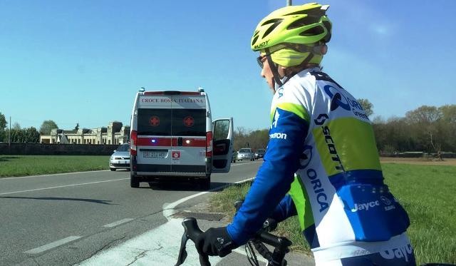 lonate pozzolo incidnte ciclista