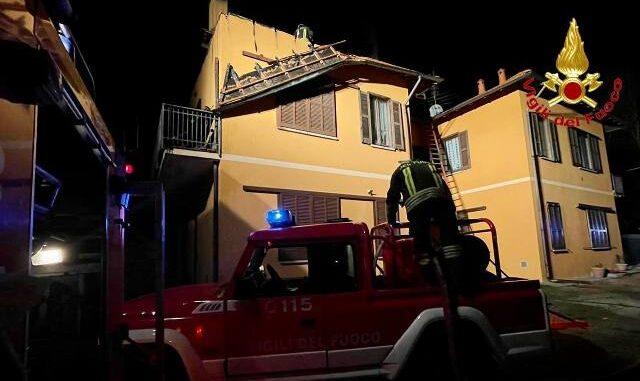 casale litta incendio famiglia evacuata