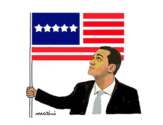 marini vignetta di maio america