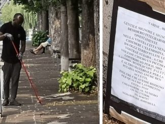 sesto nigeriano pulisce strade