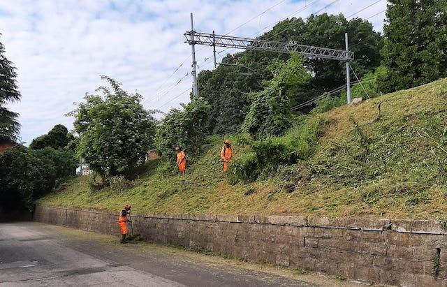 Albizzate Valdarno ferrovia pozzi
