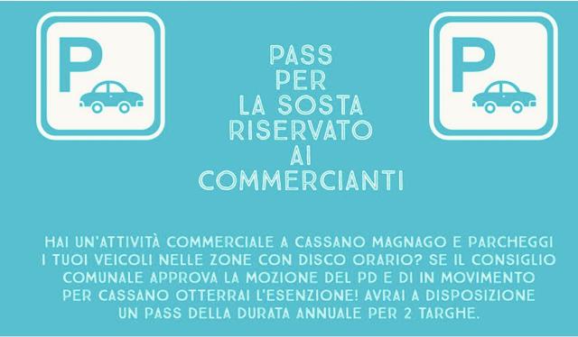 cassano magnago pass commercianti