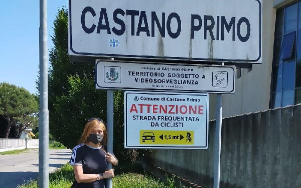castanoprimo cartelli ciclisti sicurezza