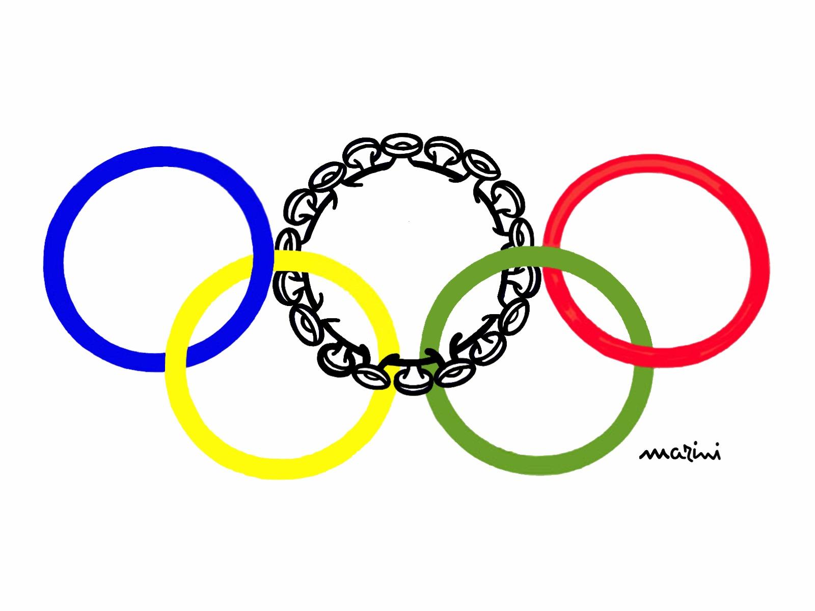 Vignetta Marini olimpiadi