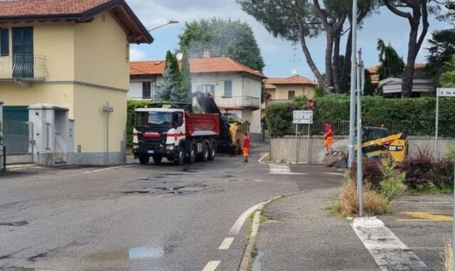 casorate fibra ottica inizio asfaltature