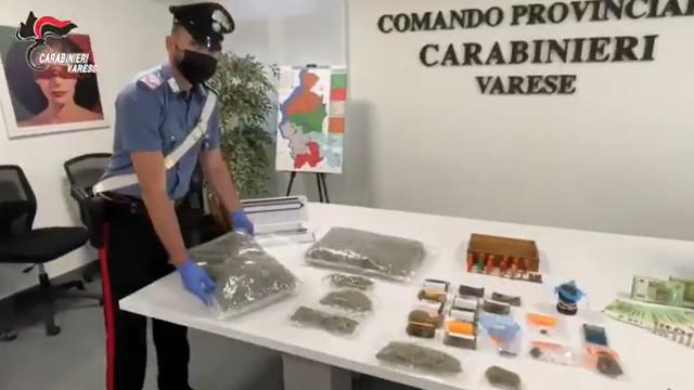 casciago droga arresti