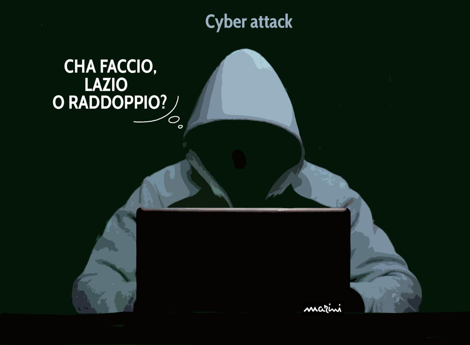 Cyber attacco lazio