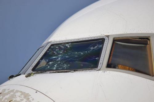 Emirates danneggiato dalla grandine